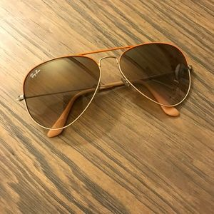 Ray-Ban Aviator Large, Orange and Silver